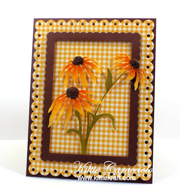 Come see how I made these die cut black eyed susans.