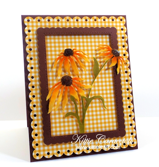 Come see how I made these lovely die cut black eyed susans.