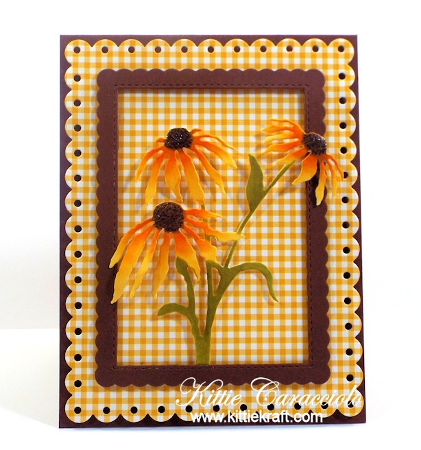 Come see how I made these pretty die cut black eyed susans.