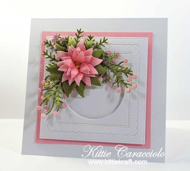 Come see how I made this clean and simple poinsettia card.