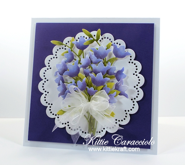Come see how I made this die cut spring flower bouquet.