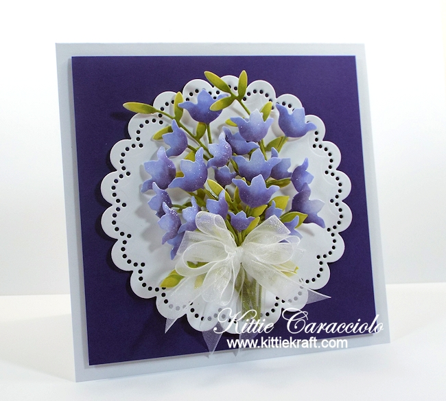 Come see how I made this elegant die cut spring flower bouquet.