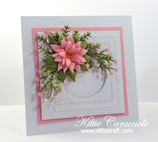 Come see how I made this lovely clean and simple poinsettia card.