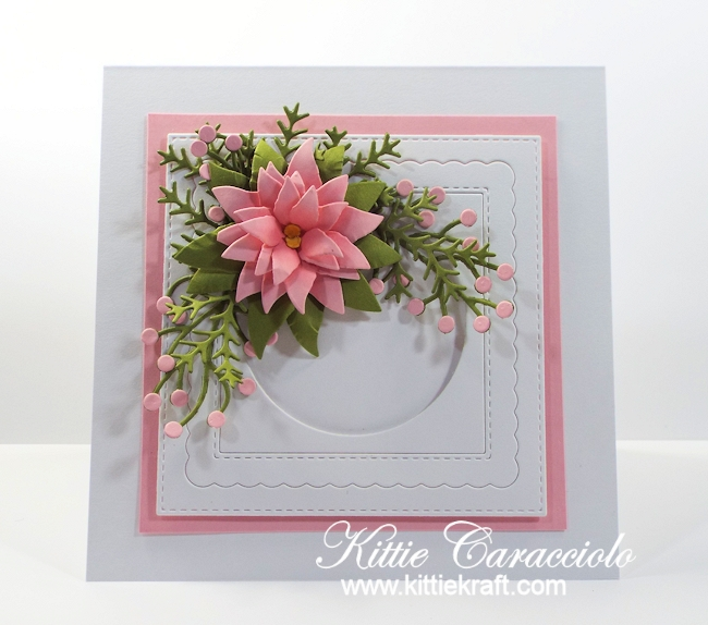 Come see how I made this pretty clean and simple poinsettia card.
