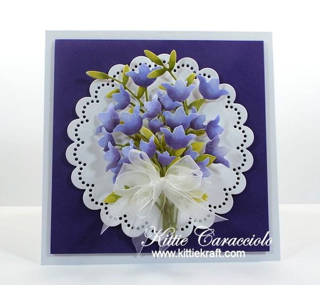 Come see how I made this pretty die cut spring flower bouquet.