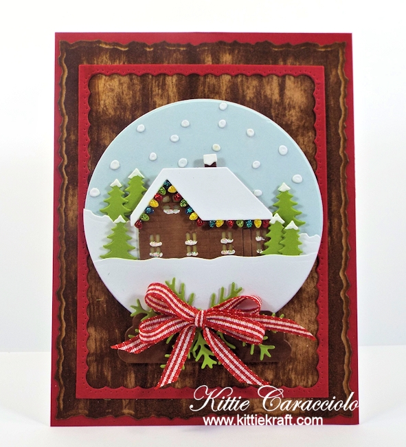 Come see how I made this pretty snow globe cabin scene.