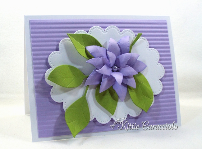 Come see how i made this elegant die cut leaves and flower project.