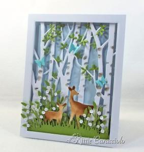 Die Cut Birch Tree Scene