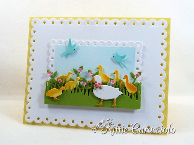 Come see how I made this die cut duck scene.