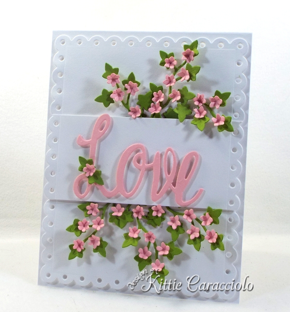 Come see how I made this die cut love and floral ivy card.