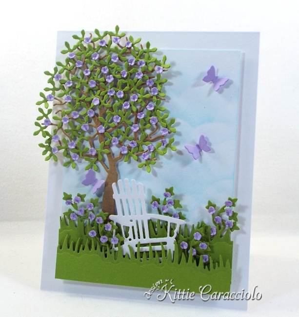 Come see how I made this die cut tree and chair scene.