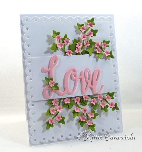 Come see how I made this elegant die cut love and floral ivy card.