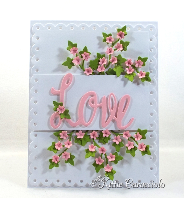 Come see how I made this pretty die cut love and floral ivy card.