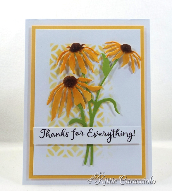 Come see how I made this pretty stencil background and flowers card.