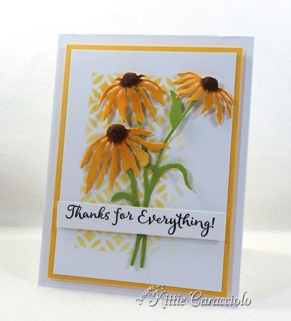 Come see how I made this stencil background and flowers card.
