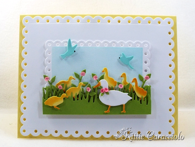 Come see how I made this sweet die cut duck scene.