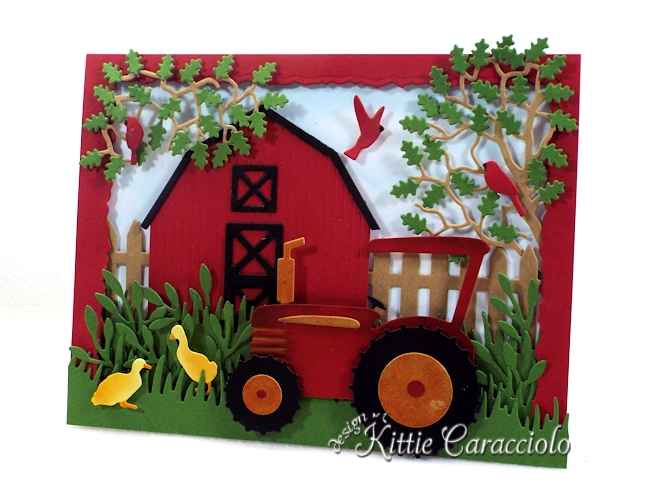 Come see how I made this die cut farm scene using Rubbernecker dies.