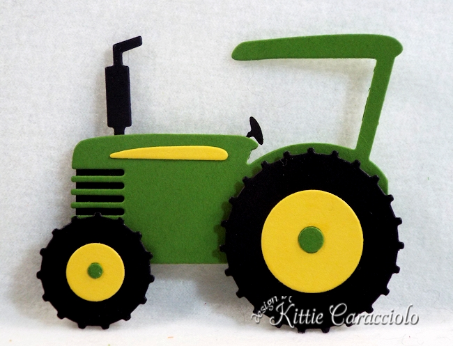 Come see how I made this die cut farm tractor by Rubbernecker Stamps.