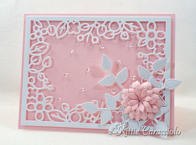 Come see how I made this die cut floral frame card.