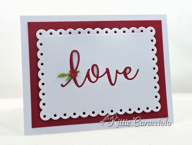 Come see how I made this elegant clean and simple die cut inlay sentiment card.