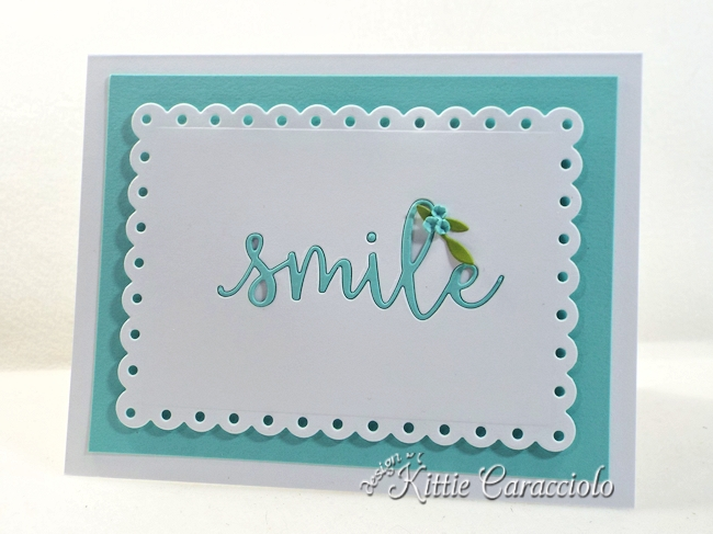 Come see how I made this lovely clean and simple die cut inlay sentiment card.