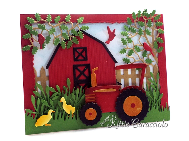 Come see how I made this rustic die cut farm scene using Rubbernecker dies.