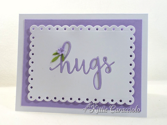 Come see how I made this sweet clean and simple die cut inlay sentiment card.