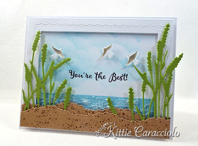 Come check out how I made this die cut seagrass scene.