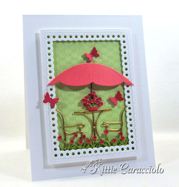 Come check out how I made this pretty die cut bistro scene.