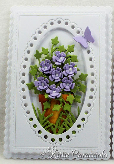 Come see how I made these elegant die cut flower and frame sample cards.