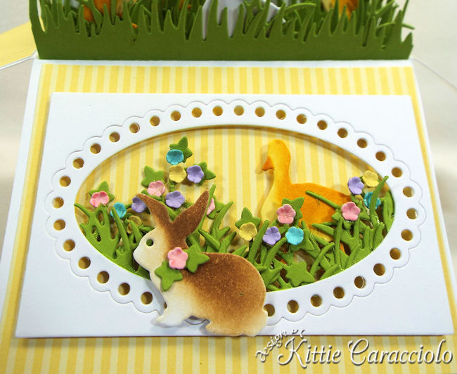 Come see how I made this bright Easter Pop Up Box Card.