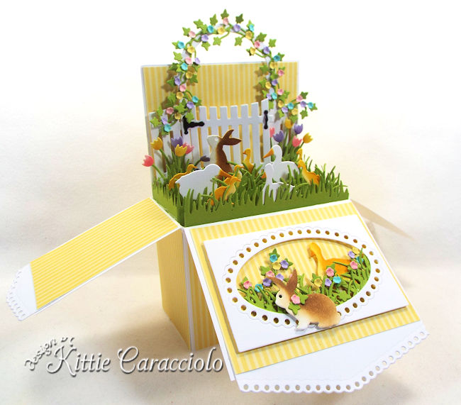 Come see how I made this colorful Easter Pop Up Box Card.