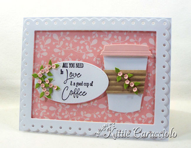 Come see how I made this die cut coffee cup card.