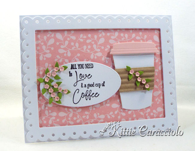 Come see how I made this fun die cut coffee cup card.
