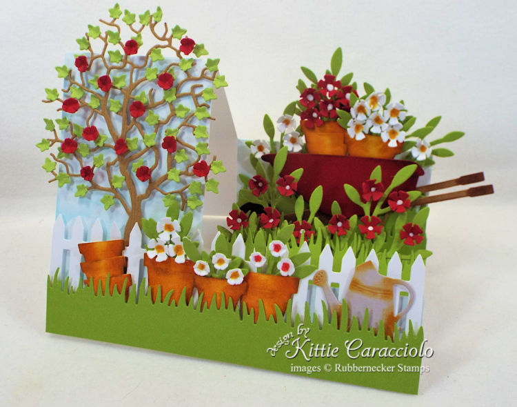 Come and see how I made this colorful and pretty garden side step card.