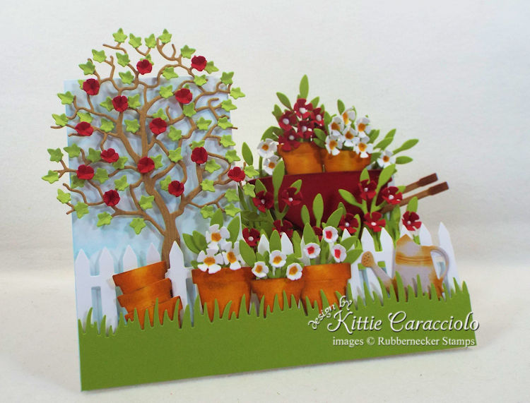 Come and see how I made this colorful garden side step card.