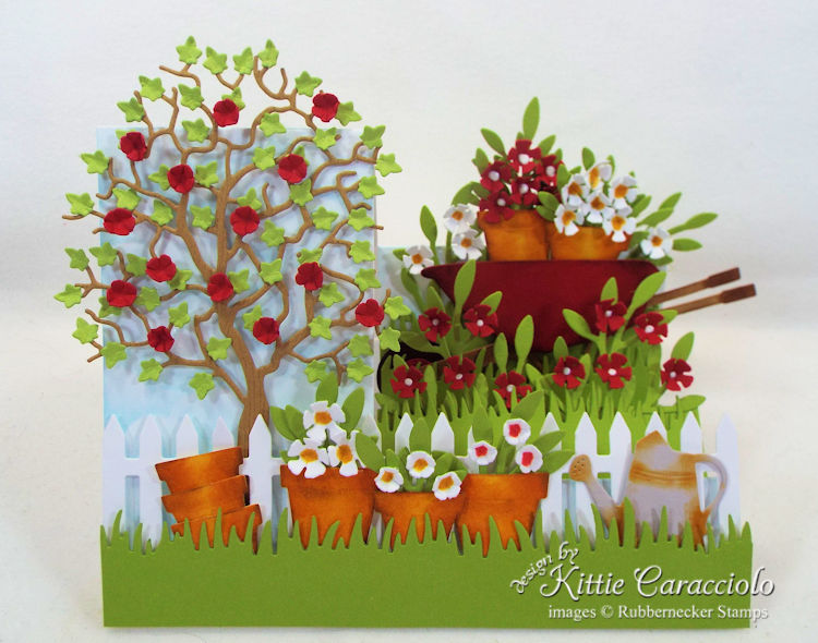Come and see how I made this pretty garden side step card.