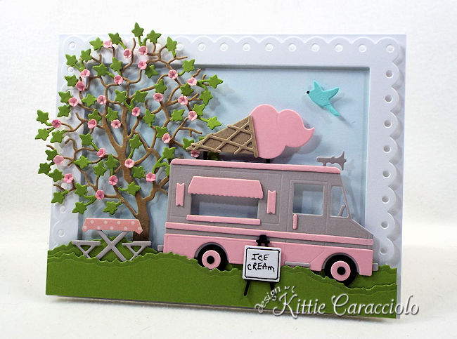 Come check out how I made this die cut ice cream truck