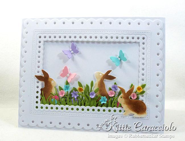 Come over to my blog to see how I made this card with die cut Easter bunnies.