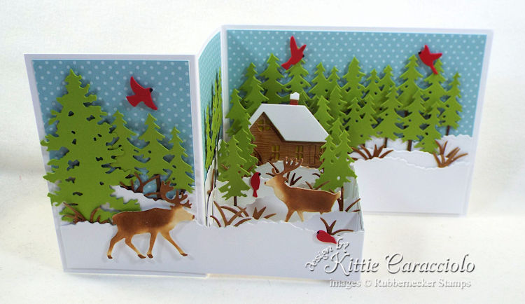 Come see how I made this Z fold winter scene card.