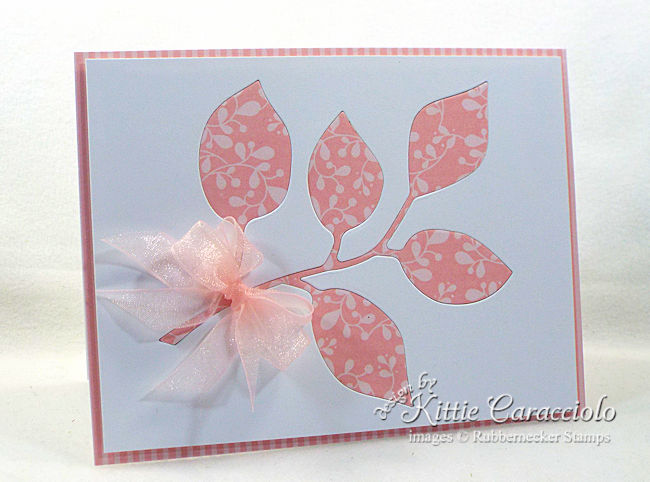 Come see how I made this clean and simple die cut inlay branch card.