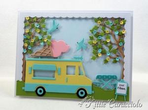 Die Cut Ice Cream Truck