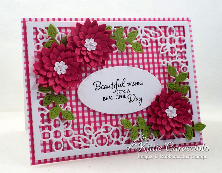 Come see how I made this colorful framed flowers and sentiment card.