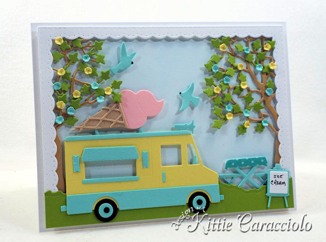 Come check out how I made this die cut ice cream truck.