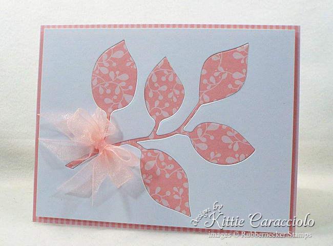 Come see how I made this die cut inlay branch card.