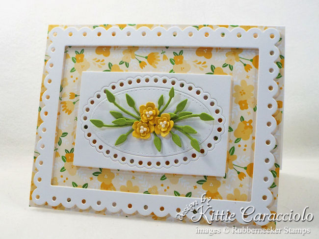 Come see how I made this die cut tiny flowers and frame card.
