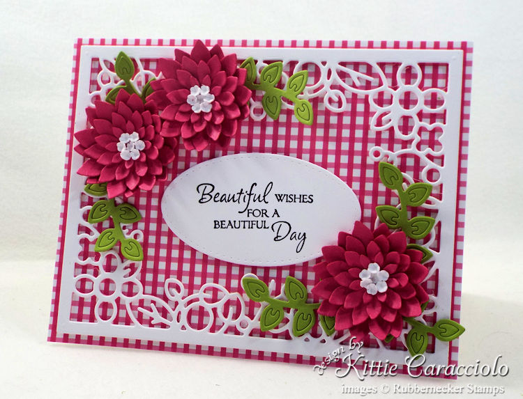 Come see how I made this framed flowers and sentiment card.