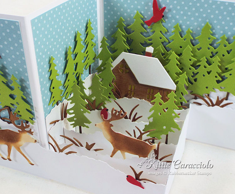 Come see how I made this lovely Z fold winter scene card.