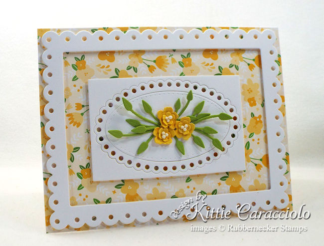 Come see how I made this pretty die cut tiny flowers and frame card.