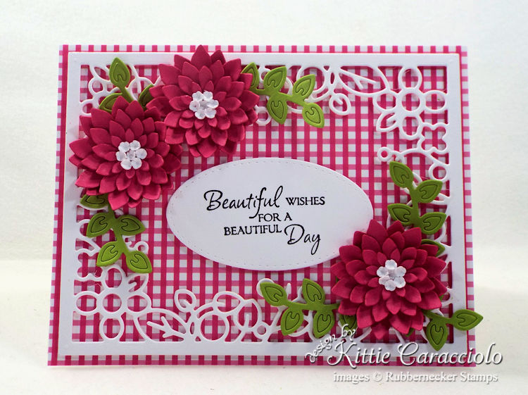 Come see how I made this pretty framed flowers and sentiment card.